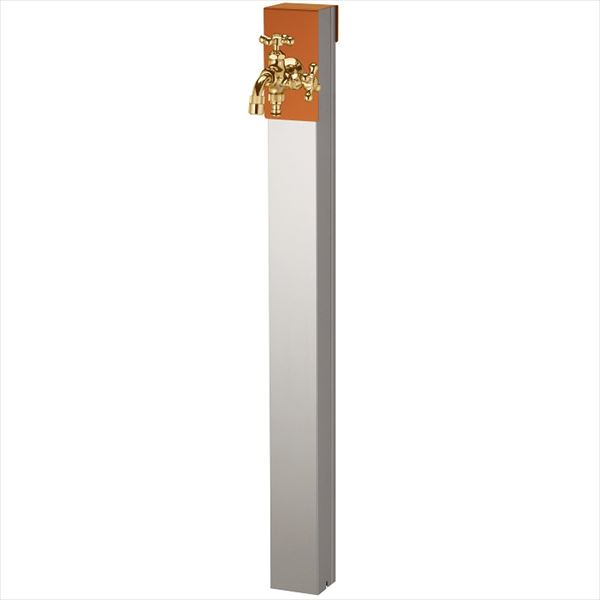 ユニソン リーナアロン 950スタンド ツイン 蛇口(ゴールド)1個セット プレーンフォーセット ツイン付 『立水栓セット(蛇口付き)』  テラコッタオレンジ