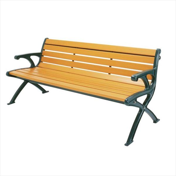 ミヅシマ工業 リサイクルベンチRB1 背肘付 RB1-LWE 244-0060 『ガーデンベンチ・公共向け』