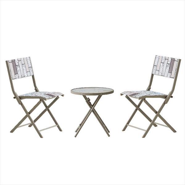 杉田エース パティオ・プティ パレット テーブル×1、チェア×2セット PALETTE 『ガーデンテーブルセット ガーデンファニチャー』