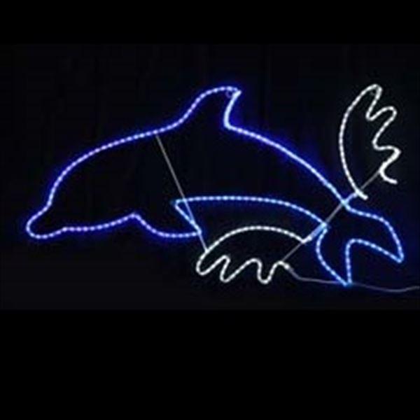 コロナ産業 2Dモチーフ LED ジャンプイルカ L2DM265 『イルミネーションライト』
