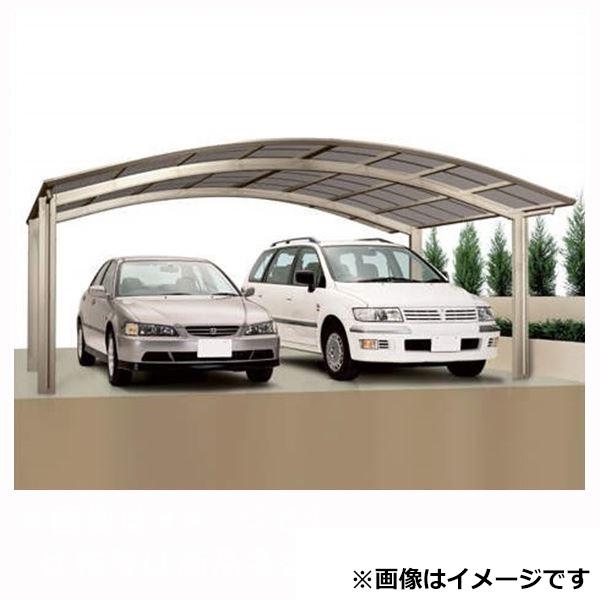 カーポート 2台用 四国化成 バリューポートR ワイド 基本セット 延高 ポリカーボネート板 4850 VPNE-B4850 『アルミカーポート 自動車屋根』