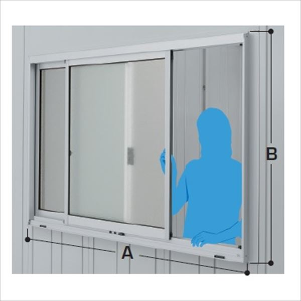 イナバ物置 オプション ガレーディア(GRN)用 ガラス窓 GNR-2S 壁パネル2枚分 ガラス付き スタンダード *本体同時注文価格