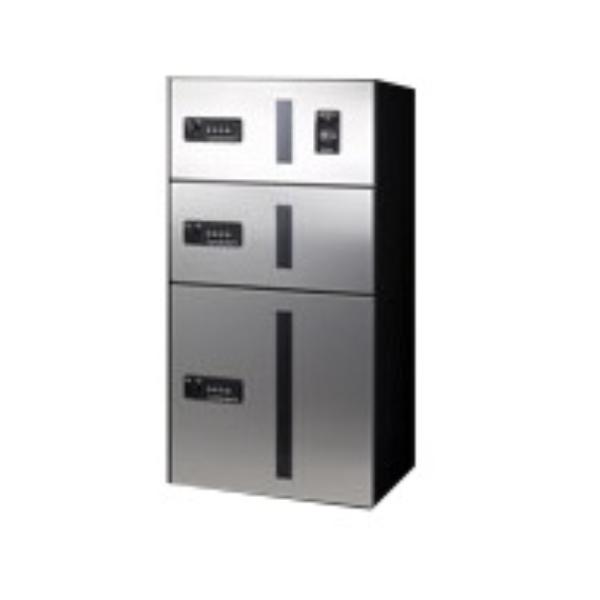 田島メタルワーク マルチボックス MULTIBOX GX-D4WN 下段タイプ 小型荷物用/中型荷物用(捺印装置付) ステンレス 『集合住宅用宅配ボックス マンション用』
