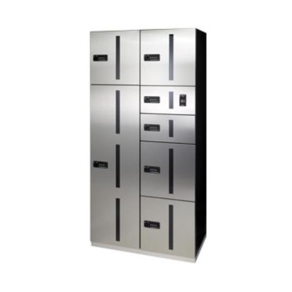 田島メタルワーク マルチボックス MULTIBOX GX-DW ユニット組み合わせセット1 20世帯向/2列7BOX ステンレス 『集合住宅用宅配ボックス マンション用』