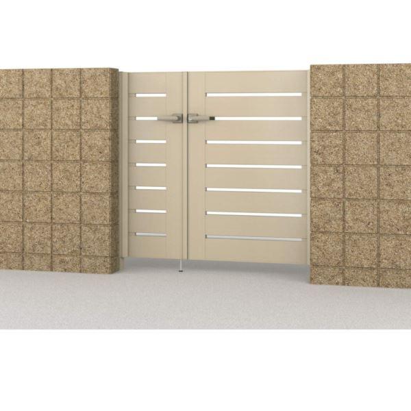 内開き門柱タイプ フレイナ 形材タイプ さびに強いアルミ形材門扉 04・0816 Y1型 三協アルミ 親子開きセット