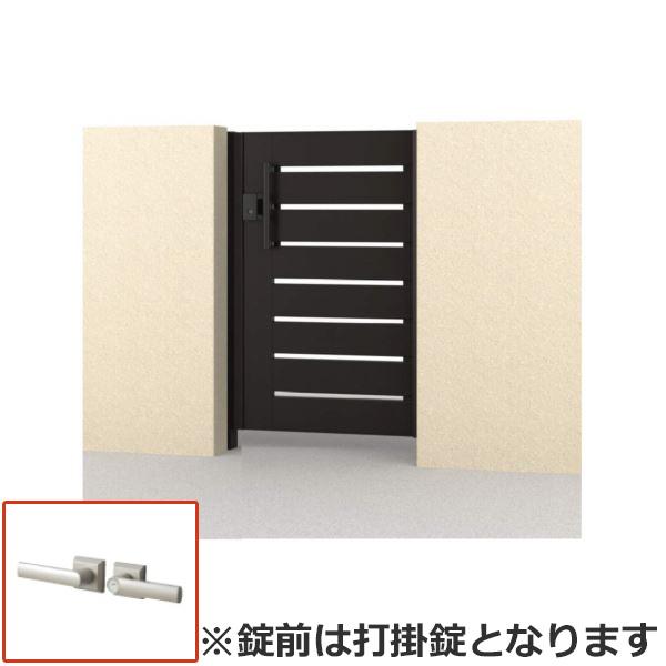 さびに強いアルミ形材門扉 三協アルミ フレイナ Y1型 片開きセット 内開き門柱タイプ 0916 形材タイプ