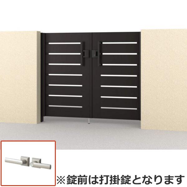 さびに強いアルミ形材門扉 三協アルミ フレイナ SD型 両開きセット 内開き門柱タイプ 0814 形材タイプ