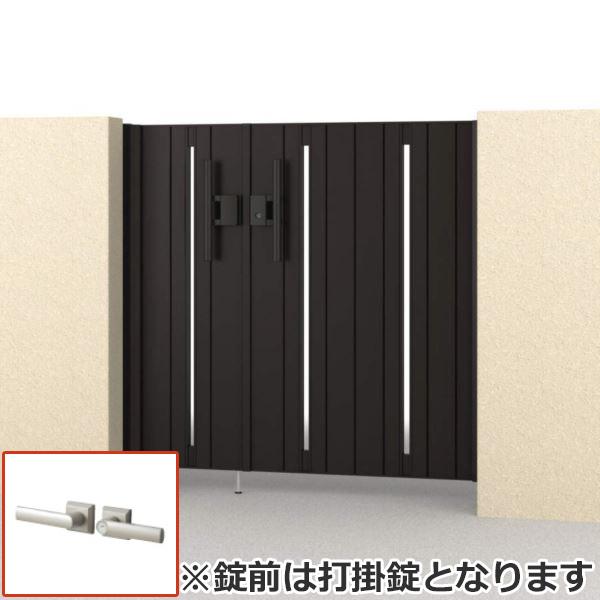 さびに強いアルミ形材門扉 三協アルミ フレイナ SD型 親子開きセット 内開き門柱タイプ 04・0812 形材タイプ