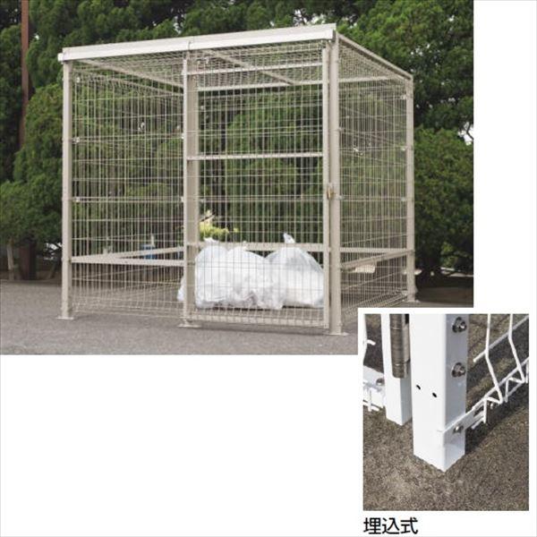四国化成 ゴミストッカーEMF型 GEM-U2010 引き戸式 埋込式 基本セット 片引き 『ゴミ収集庫』『ダストボックス ゴミステーション 屋外』『ゴミ袋(45L)集積目安 75袋、世帯数目安 38世帯』 埋込式