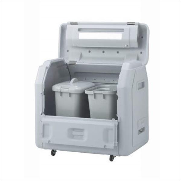 四国化成 ゴミストッカーEPシリーズ GSEP100B-LG EP1000 内容器付 キャスタータイプ 『ゴミ収集庫』『ダストボックス ゴミステーション 屋外』『ゴミ袋(45L)集積目安 22袋、世帯数目安 11世帯』 内容器付