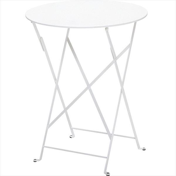 』ニチエス FERMOB フェルモブ ビストロテーブル 60  01ホワイト