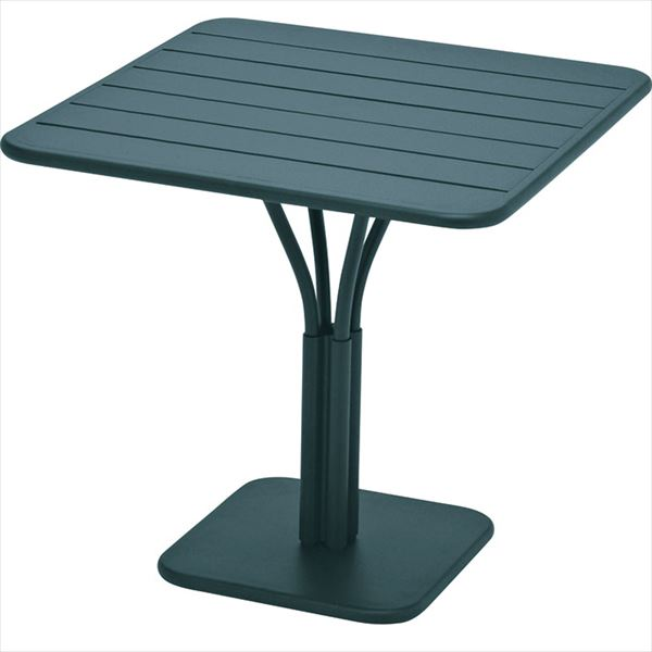 ニチエス FERMOB フェルモブ ルクセンブールテーブル 80×80 *パラソル穴付き 02シダーグリーン