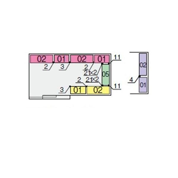 イナバ物置 NXN 奥行2210用 別売棚Cセット(標準棚) *単品購入価格 大型タイプ