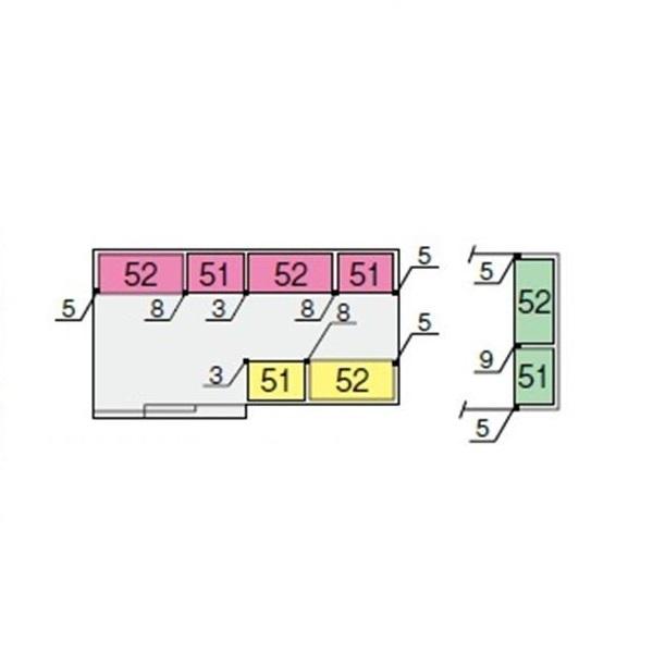 イナバ物置 NXN 間口4420用 別売棚Eセット(ワイド棚) *単品購入価格 大型タイプ
