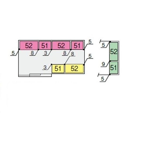 イナバ物置 NXN 奥行2210用 別売棚Gセット(ワイド棚) *単品購入価格 大型タイプ