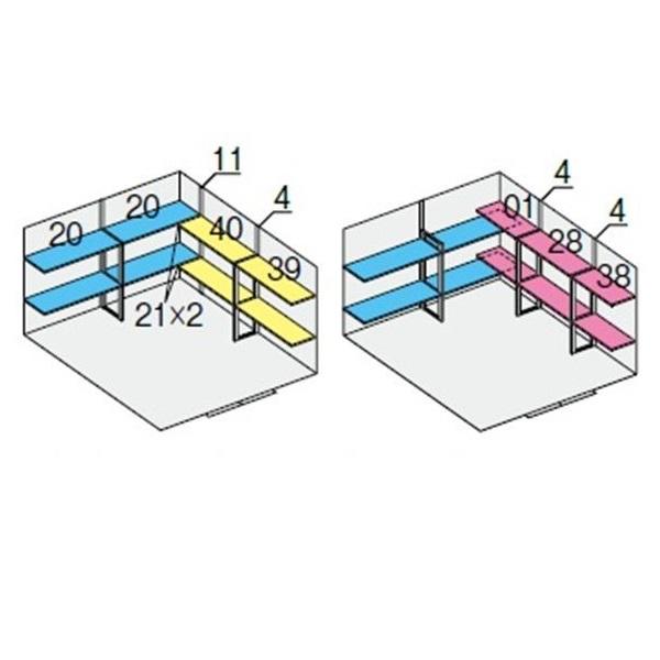 イナバ物置 NXN NXN-95S用 別売棚Cセット *単品購入価格 引き分け戸用