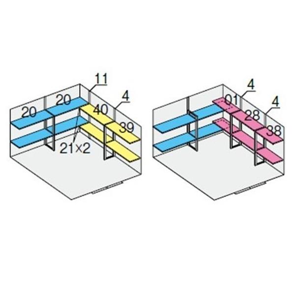 イナバ物置 NXN NXN-95S用 別売棚Dセット *単品購入価格 引き分け戸用