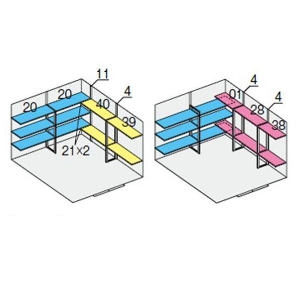 イナバ物置 NXN NXN-95H用 別売棚Cセット ハイルーフ用 *単品購入価格 引き分け戸用