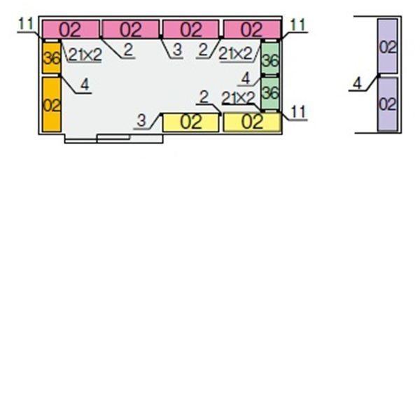 イナバ物置 NXN 奥行2630用 別売棚Dセット(標準棚) *単品購入価格 大型タイプ