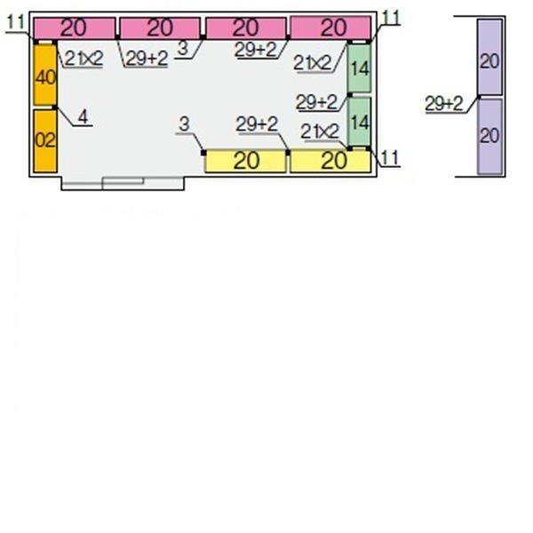 イナバ物置 NXN 奥行3050用 別売棚Cセット(標準棚) *単品購入価格 大型タイプ