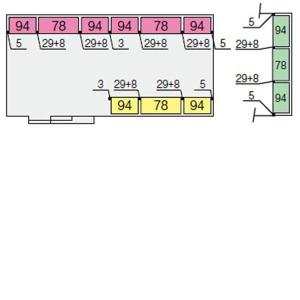 イナバ物置 NXN 奥行3470用 別売棚Gセット(ワイド棚) *単品購入価格 大型タイプ