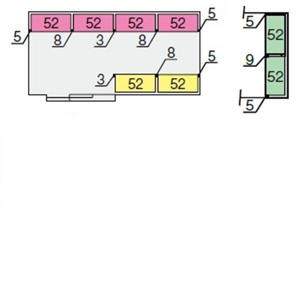 イナバ物置 NXN 間口5260用 別売棚Fセット(ワイド棚) *単品購入価格 大型タイプ
