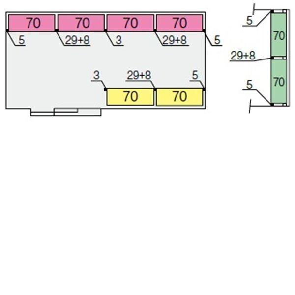 イナバ物置 NXN 間口6100用 別売棚Fセット(ワイド棚) *単品購入価格 大型タイプ