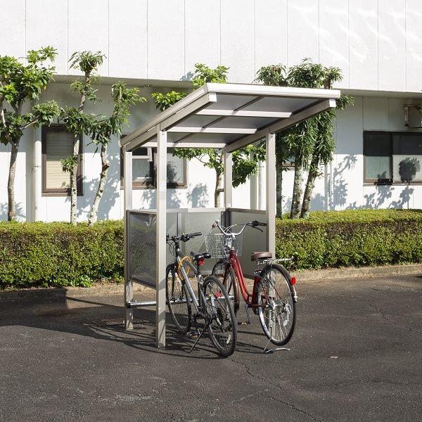サイクルポート 大仙(ダイセン) 自転車スペース 積雪20cm仕様 間口12 側面・背面1段パネル BS-1201 2台用 『アルミ製 家庭用 駐輪 自転車置き場 屋根』
