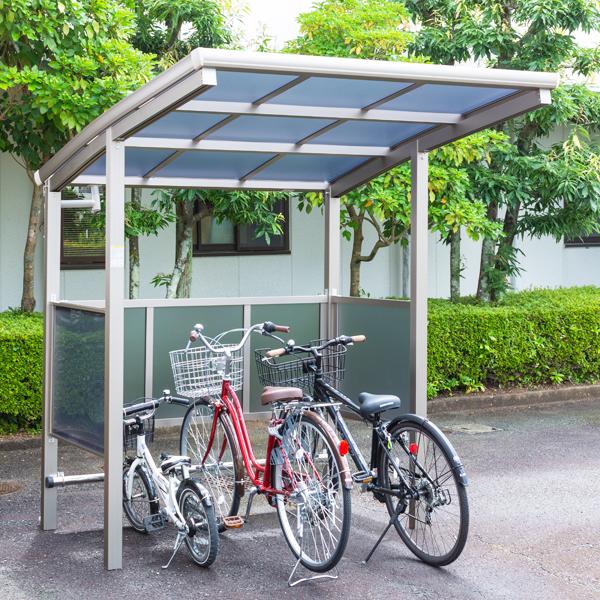 サイクルポート 大仙(ダイセン) 自転車スペース 積雪20cm仕様 間口18 側面・背面1段パネル BS-1801 3台用 『アルミ製 家庭用 駐輪 自転車置き場 屋根』
