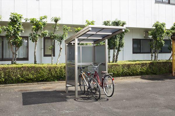 サイクルポート 大仙(ダイセン) 自転車スペース 積雪20cm仕様 間口12 側面・背面2段パネル BS-1201 BS-P1201 2台用 『アルミ製 家庭用 駐輪 自転車置き場 屋根』