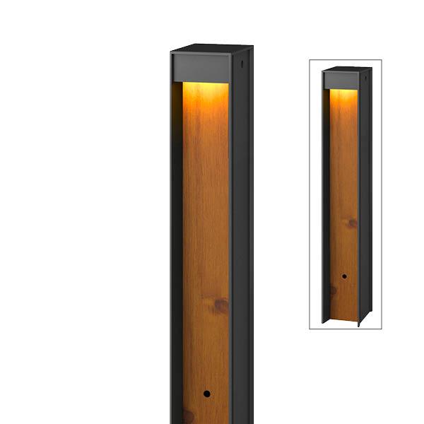 送料無料【タカショー】下方配光がアプローチを優しく照らす タカショー エバーアートポールライト 7型 ローボルト HBC-D72N #75853100 ナチュラルパイン