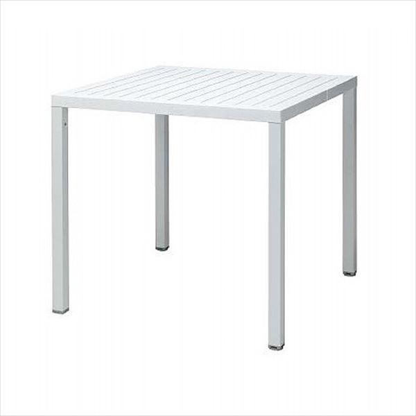 タカショー キューブ スクエアテーブル NAR-T07W #33323300 『ガーデンテーブル』 ホワイト