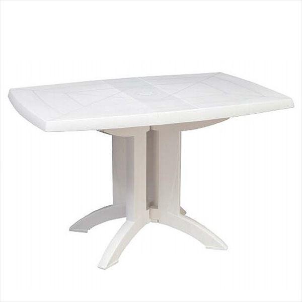タカショー グロスフィレックス ベガテーブル118×77 GRS-T05W #31508600 『ガーデンテーブル』 ホワイト