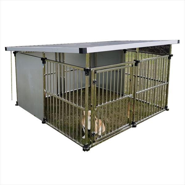 メタルテック ステンレス製マルチ犬舎 DFS-M2 (1坪タイプ)  『屋外用動物小屋 犬小屋』