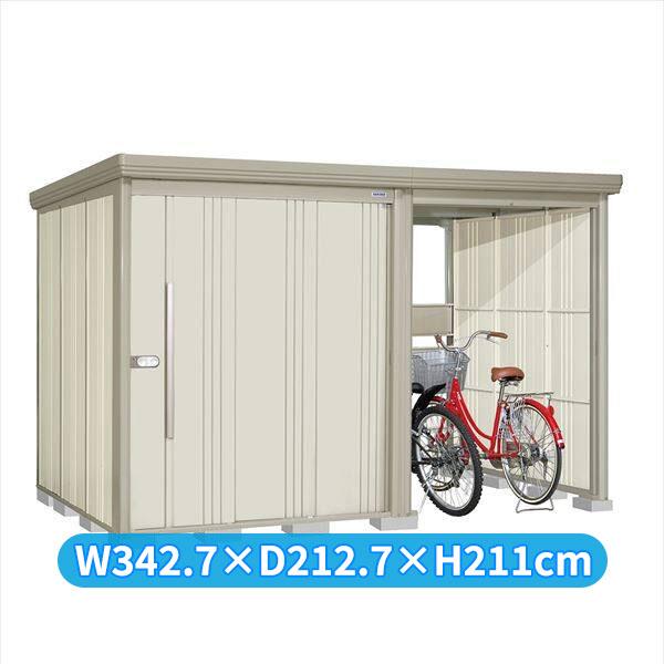 タクボ物置 TP/ストックマンプラスアルファ TP-3319W 一般型 標準屋根 『追加金額で工事も可能』 『駐輪スペース付 屋外用 物置 自転車収納 におすすめ』 ムーンホワイト