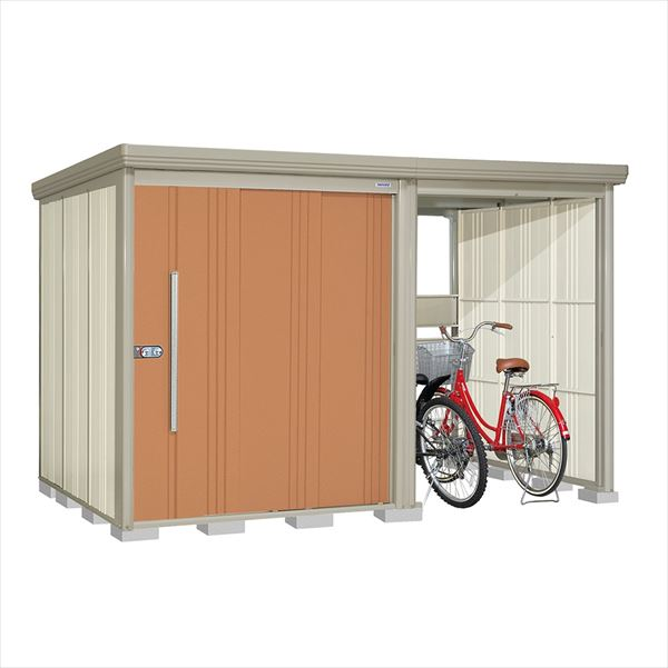 タクボ物置 TP/ストックマンプラスアルファ TP-Z3319T 一般型 結露減少屋根 『追加金額で工事も可能』 『駐輪スペース付 屋外用 物置 自転車収納 におすすめ』 トロピカルオレンジ