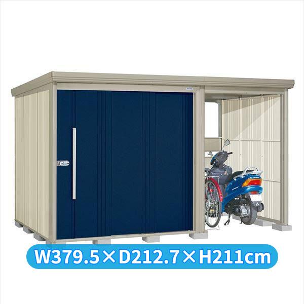 タクボ物置 TP/ストックマンプラスアルファ TP-3719D 一般型 標準屋根 『追加金額で工事も可能』 『駐輪スペース付 屋外用 物置 自転車収納 におすすめ』 ディープブルー