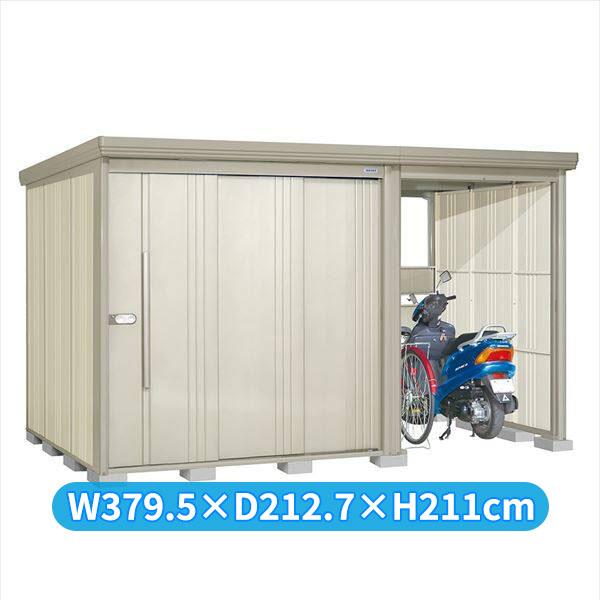 タクボ物置 TP/ストックマンプラスアルファ TP-Z3719W 一般型 結露減少屋根 『追加金額で工事も可能』 『駐輪スペース付 屋外用 物置 自転車収納 におすすめ』 ムーンホワイト