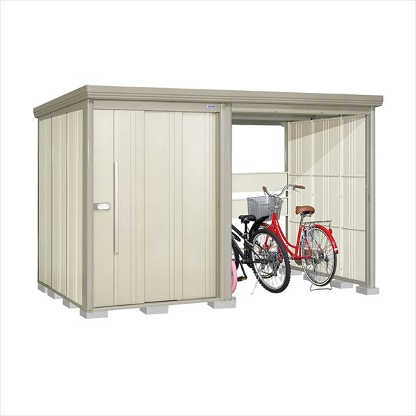 タクボ物置 TP/ストックマンプラスアルファ TP-33R19W 一般型 標準屋根 『追加金額で工事も可能』 『駐輪スペース付 屋外用 物置 自転車収納 におすすめ』 ムーンホワイト