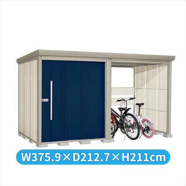 タクボ物置 TP/ストックマンプラスアルファ TP-37R19D 一般型 標準屋根 『追加金額で工事も可能』 『駐輪スペース付 屋外用 物置 自転車収納 におすすめ』 ディープブルー