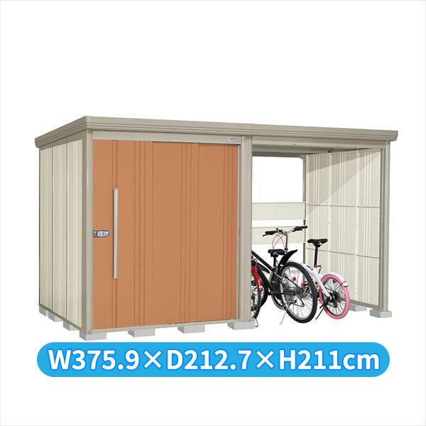 タクボ物置 TP/ストックマンプラスアルファ TP-Z37R19T 一般型 結露減少屋根 『追加金額で工事も可能』 『駐輪スペース付 屋外用 物置 自転車収納 におすすめ』 トロピカルオレンジ