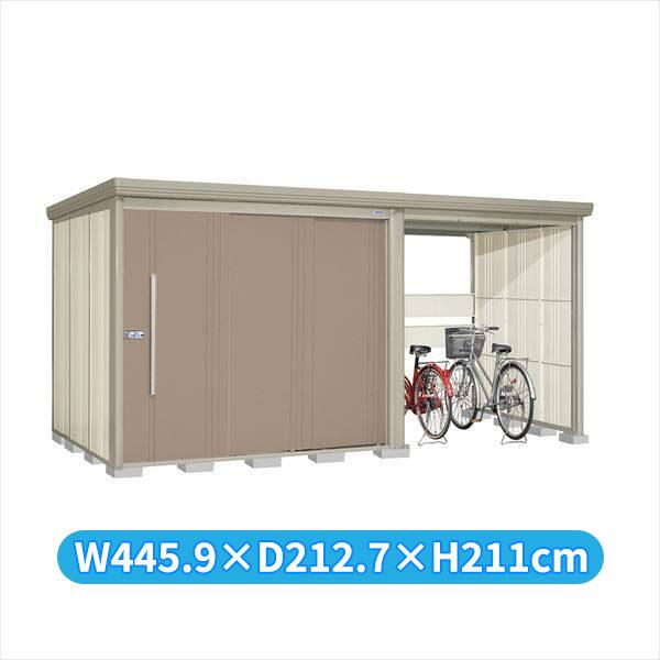 タクボ物置 TP/ストックマンプラスアルファ TP-43R19B 一般型 標準屋根 『追加金額で工事も可能』 『駐輪スペース付 屋外用 物置 自転車収納 におすすめ』 カーボンブラウン