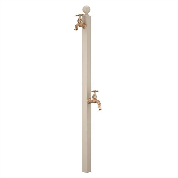 オンリーワン アクアルージュ W  スフィア(補助蛇口付)  バニラ  TK3-SPWV   『水栓柱・立水栓 屋外用』 バニラ