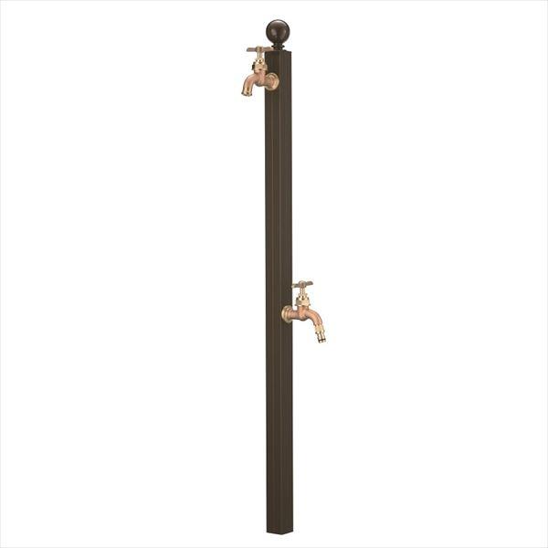 オンリーワン アクアルージュ W  スフィア(補助蛇口付)  ダークブラウン  TK3-SPWDB   『水栓柱・立水栓 屋外用』 ダークブラウン
