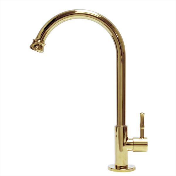 『水栓柱・立水栓 AE4-MA740PB アンティーク水栓 オンリーワン  室内専用』 単水栓 スワンキー ブラス