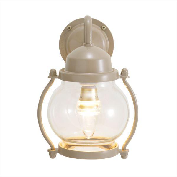 オンリーワン 真鍮製ポーチライト BR1700 クリアーガラス(LED仕様)  アースグレイ GI1-750212  『エクステリアライト 屋外照明』