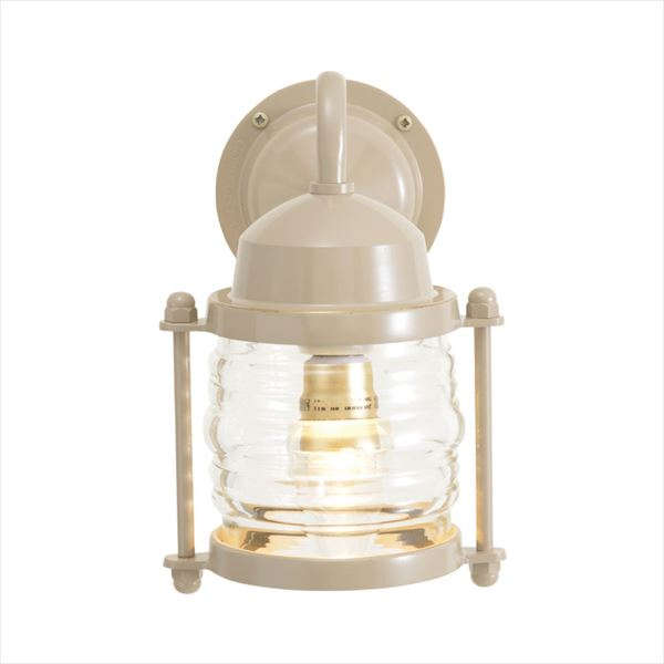 オンリーワン 真鍮製ポーチライト BR1710 クリアーガラス(LED仕様)  アースグレイ GI1-750225  『エクステリアライト 屋外照明』
