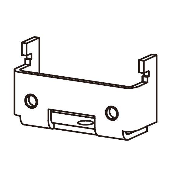 YKKAP アウターシェード 枠付け用選択部品セット シャッター付引違い窓 半外付/外付  アルミスラット 2枚仕様  フックユニット  B1/B7/H2/S1/YW  7AN-GS-B