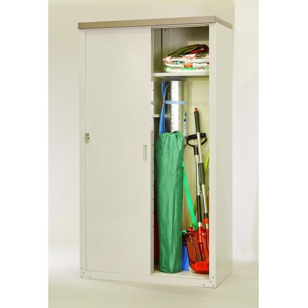 送料無料 グリーンライフ 組立簡単 簡易収納庫の決定版 NEW ARRIVAL 家庭用収納庫ハーフ棚仕様 与え 屋外 小型 DIY向け 物置 HS-162HT
