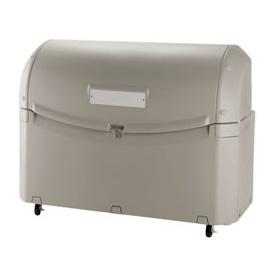 リッチェル ワイドペールST800 (キャスター付) 『ゴミ袋(45L)集積目安 17袋、世帯数目安 9世帯』 『ゴミ収集庫』 グレー